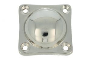Cover rosette nickel 37x37mm, height 14mm