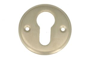 Round euro cylinder escutcheon satin nickel. Price per piece