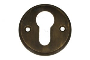 Round euro cylinder escutcheon antique brass. Price per piece