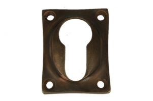 Euro cylinder escutcheon antique brass. Price per piece