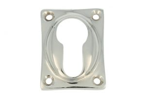Escutcheon for euro cylinder nickel. Price per piece