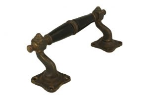 Pull handle 160mm elegant model with curve antique brass