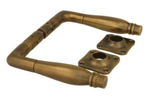 Door handles antique brass pair (1928)