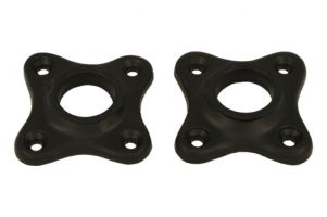 Pair escutcheons cast iron black powder coated Øhole 18mm