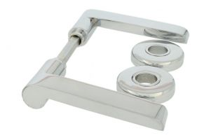 Door Handle set chrome German industrial design