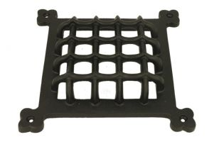 Door window grill cover cast iron powder coated.