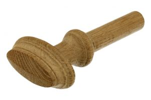 Knob with pen oak with ornamental edge 70x35mm pen size 70mm