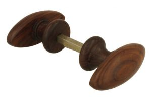 Pair of knobs rosewood 85x35mm