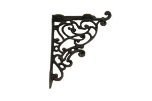 Shelf bracket cast iron 180x220mm (L×H), Shelf size 145mm.