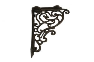 Shelf bracket cast iron 185x245mm (L×H),& 245x185mm (L×H)