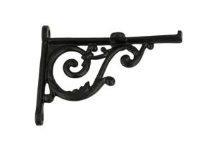 Shelf bracket black powder coated cast iron 125x95mm (L×H)