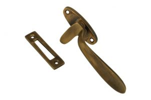 Window fastener antique brass left