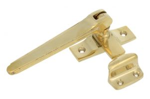 Window fastener reversible polished brass