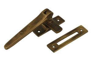 Window fastener reversible antique brass (1915)