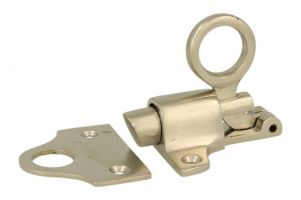 Transom window latch satin nickel with catch