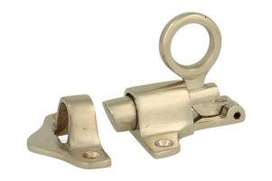 Transom window latch satin nickel rabetted door frame