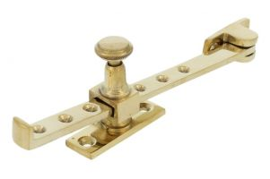 Window stay polished brass 190mm