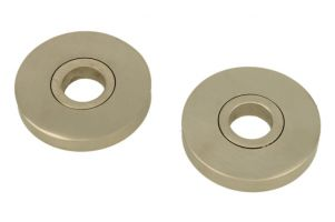 Pair round concealed escutcheons satin nickel