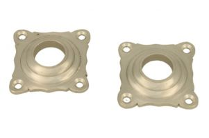 Pair elegant escutcheons satin nickel
