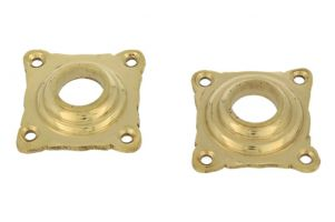 Pair elegant escutcheons polished brass
