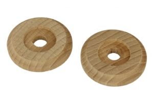 Pair wooden rosettes beech Ø 55mm