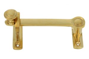 Sliding door latch lock polished brass