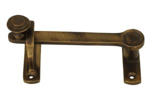 Sliding door latch lock antique brass