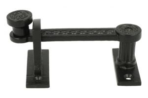 Sliding door latch lock cast iron black(DxWxH) 30x114x51mm