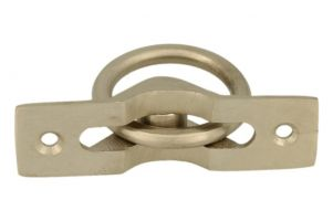 Flush pull ring satin nickel