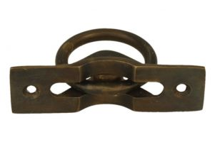 Flush pull ring antique brass