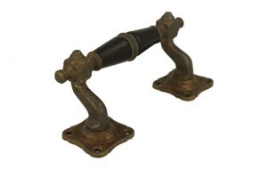 Pull handle 130mm elegant model with curve antique brass