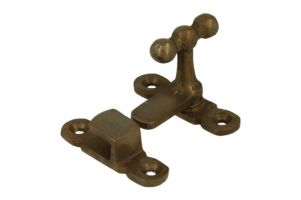 Lock for cabinet/window antique brass