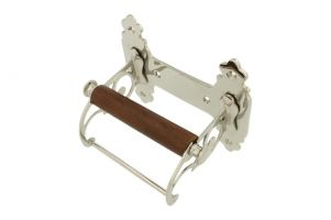 Elegant toilet paper holder nickel