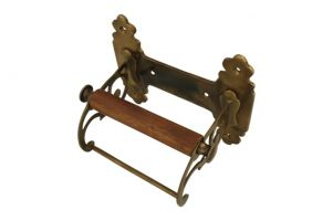 Elegant toilet paper holder antique brass