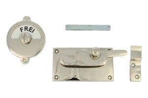 Frei-Besetzt door lock for toilet 92×52mm nickel