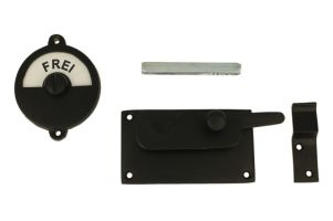 Frei-Besetzt door lock for toilet black 92×52mm