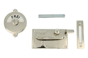Frei-Besetzt door lock for toilet nickel 92×52mm