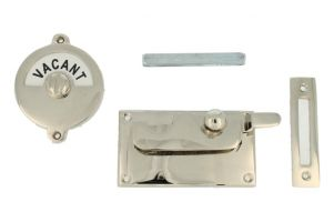 Vacant-Engaged door lock for toilet nickel 92×52mm
