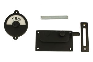 Frei-Besetzt door lock for toilet 92×52mm black