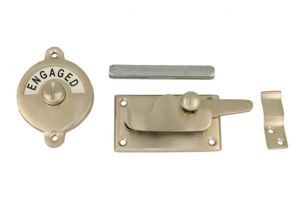 Vacant-Engaged door lock for toilet 70×39mm satin nickel