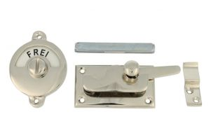 Frei-Besetzt door lock for toilet 70×39mm nickel