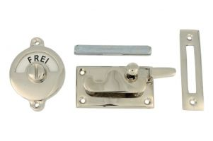 Frei-Besetzt door lock for toilet nickel 70x39mm