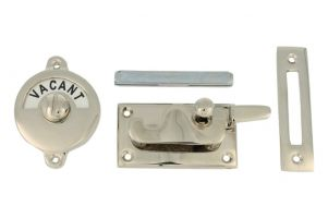 Vacant-Engaged door lock for toilet nickel 70x39mm