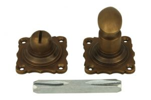 Turn and release spindle antique brass 8mm spindle size