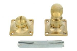 Turn and release spindle polished brass. Spindle size 8mm