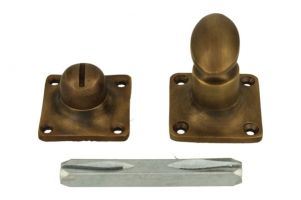 Turn and release spindle antique brass. Spindle size 8mm