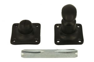 Turn and release spindle brass black powder coated