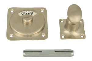 Libre-Occupé turn and release spindle satin nickel