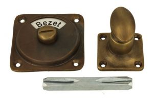 Vrij bezet turn and release spindle antique brass