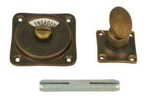 Vacant-Engaged turn and release spindle antique brass